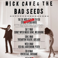 Live Gigs: Nick Cave & The Bad Seeds in   Perth @ Red Hill Auditorium 2013, Belvoir Amphitheater 2000 & Fremantle Passenger Terminal 1994