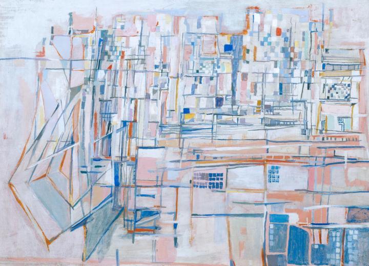 Paris 1951 by Maria Helena Vieira da Silva 1908-1992
