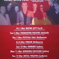 Live Gigs: All Nick Cave Shows I've been too + full Setlists!